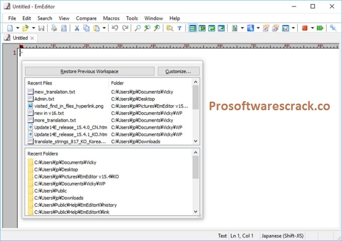 EmEditor Professional 20.4.4 Crack + {Latest Version} Free Download 2021